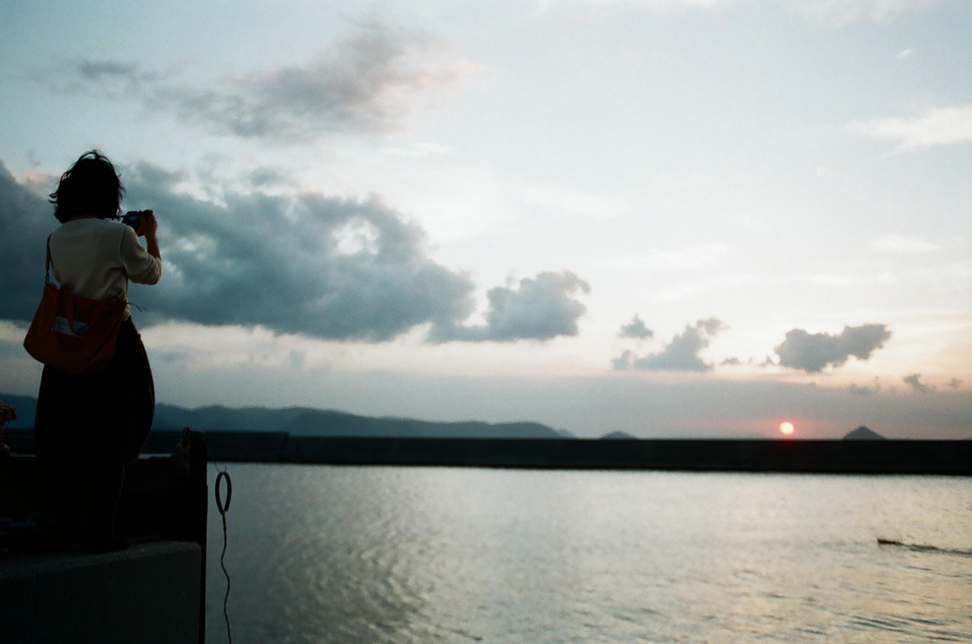 男木島の夕焼け