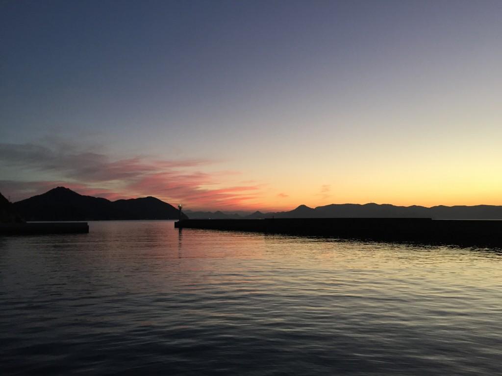 男木島の夕暮れ